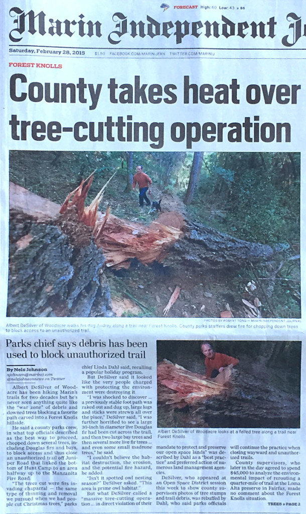 Marin Independent Journal 2.28.15 newspaper cover story