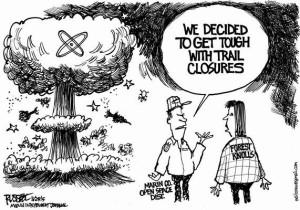 cartoon-George-Russel-Marin-IJ-trail-destruction